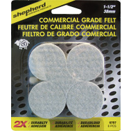 Shepherd Hardware 6707 Commercial Grade Self Adhesive Felt Pads 1-1/2 Inch 8 Pack