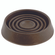 Shepherd Hardware 9075 1-1/2 Inch Round Rubber Caster Cups Brown 4 Pack