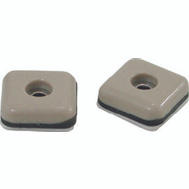 Shepherd Hardware 9242 Slide Glides 1-3/8 Square Slide Glide Pads With Screws And Self Adhesive Backs 4 Pack