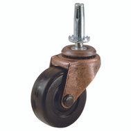 Shepherd Hardware 9345 2 Inch Rubber Wheel Swivel Stem Casters 2 Pack