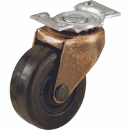 Shepherd Hardware 9348 1-5/8 Inch Rubber Wheel Swivel Plate Casters 2 Pack
