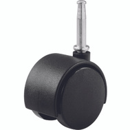 Shepherd Hardware 9418 2 Inch Twin Wheel Swivel Stem Casters Black 2 Pack