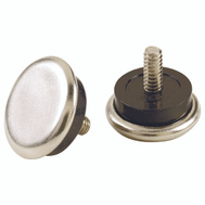 Shepherd Hardware 9449 7/8 Inch Phenolic Adjustable Glides With 1/4-20 Threaded Stems 4 Pack