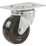 Shepherd Hardware 9478 2-1/2 Inch Rubber Wheel Swivel Plate Caster