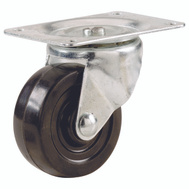 Shepherd Hardware 9489 1-1/2 Inch Rubber Wheel Swivel Plate Caster