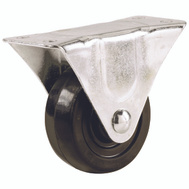 Shepherd Hardware 9490 1-1/2 Inch Rubber Wheel Rigid Plate Caster