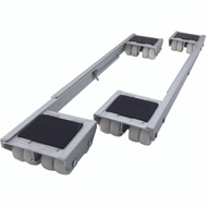 Shepherd Hardware 9603 Aluminum Appliance Rollers 18-1/4 Inch To 28 Inch 2 Pack