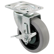 Shepherd Hardware 9736 Caster Swivel Tpr W/Brake 4In