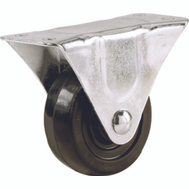 Shepherd Hardware 9789 5 Inch Rubber Wheel Rigid Plate Caster