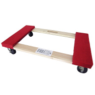 Shepherd Hardware 9850 18 Inch By 30 Inch Rubber Wheel Professional Movers Dolly With Carpeted Tops