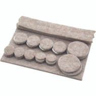 Shepherd Hardware 9947 Felt Gard 27 Piece Heavy Duty Felt Pad Value Pack Assortment Beige