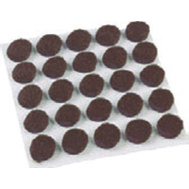 Shepherd Hardware 9949 Surface Gard 3/8 Inch Round Medium Brown Felt Pads 75 Pack
