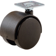 Shepherd Hardware 19403 2 Inch Black Twin Wheel Plate Casters 2 Pack