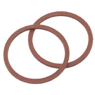Brass Craft SC0196 Plumb Shop Red Pressed Fiber Cap Thread Gasket 1 Inch Outer Diameter By.04 Inch Inner Diam