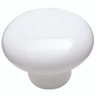 Amerock 217WHT Allison Value Hardware Contemporary 1-1/2 Inch Round Ceramic Cabinet Knob In A White Finish