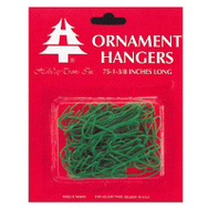 Holiday Trims 3928000 75 Count Green Ornament Hooks