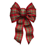 Holiday Trims 6125 Bow Plaid Traditional Asst 7Lp