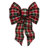 Holiday Trims 6126 Bow Holiday Cheer Asst 7 Loop