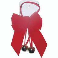 Holiday Trims 6803 Bow Red Velvet W/2 Bells