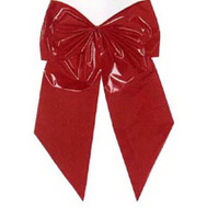 Holiday Trims 7256 2LP RED Poly Bow