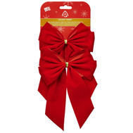 Holiday Trims 7320 Bow Red Velvet 4Lp 5.5X8.5In