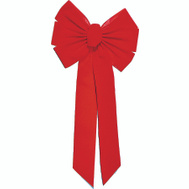 Holiday Trims 7347 Bow Velvet Red 7Lp