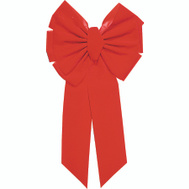 Holiday Trims 7365 Bow Red Vlvt Dix 11Lp