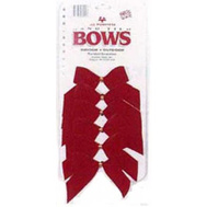 Holiday Trims 7920 6PK 2Loop RED Velv Bow