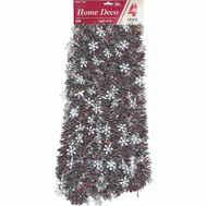 Holiday Trims 3686434 Snowflake Rd/Grn/Wht 3-1/2X18