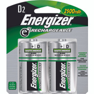 Energizer NH50BP-2 Nickel Metal D Battery Card Of 2