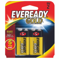 Energizer A522BP-2 Eveready Battery Alkaline Evrdy 9V Pk2