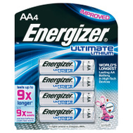 Energizer L91SPB-4 AA E2 Lithium Batteries Pack Of 4
