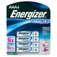 Energizer L92SBP-4 AAA E2 Lithium Batteries Pack Of 4