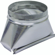 Lambro 122 6 Inch Round Aluminum Transition Fitting