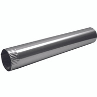 Lambro 229 Snap Lock Aluminum Vent Pipe 4 Inch By 24 Inch