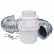 Lambro 211L 4 Inch By 5 Foot Dryer Lint Trap Kit With Lama Flex Duct
