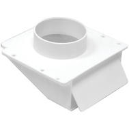 Lambro 143W 4 Inch White Plastic Under Eave Dryer Vent