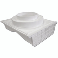 Lambro 164W Eave Vent 4In White Plstc Side