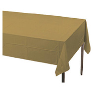 Creative Converting 01352 54X108 GLD Table Cover