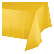 Creative Converting 011012 54X108 YEL Table Cover