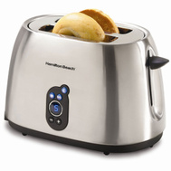 Hamilton Beach 22501 2 Slice Digital Toaster Smudge Proof Brushed Finish