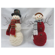 Christmas House 920053 Fabric Snowman Figure