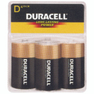 Duracell MN1300R4Z Power Check Copper Top Alkaline D Batteries Pack Of 4