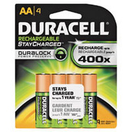 Duracell 66155 Duralock Pack Of 4 Rechargeable AA Batteries