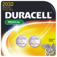 Duracell DL2032B2PK Battery Lithium Button Cr2032 2 Pack