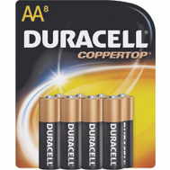 Duracell MN15B8ZTSS Copper Top Alkaline Aa Batteries Pack Of 8