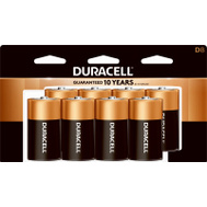 Duracell 4133393364 Power Check Battery Alkaline Cu Top Cd-8D 8 Pack