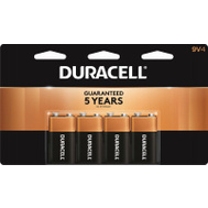 Duracell 41333935645 Battery Alkaline Cutop Cd/4 9V 4 Pack