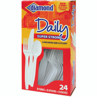 Diamond 00048 24 Ct Hvy Dty Combo Fork/Spoon