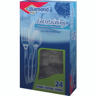 Diamond 00098 Full Size Cutlery Combo 24 Ct